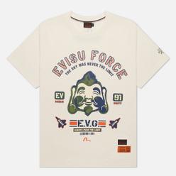 Мужская футболка Evisu Brush Godhead Printed Ecru
