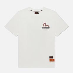 Мужская футболка Evisu Godhead Badge Printed Off White