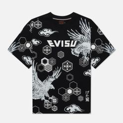 Мужская футболка Evisu Contrast Color Socks Black