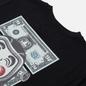 Мужская футболка Evisu Heritage Banknote Godhead Logo Print Black фото - 2