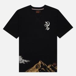 Мужская футболка Evisu Taka And Mountains Foil Print Black