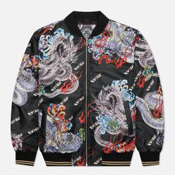 Мужская куртка бомбер Evisu Heritage Ukiyo-e Dragon All Over Print All Over Print