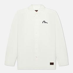 Мужская рубашка Evisu Heritage Dragon & Mountain Fuji Printed Oxford Off White