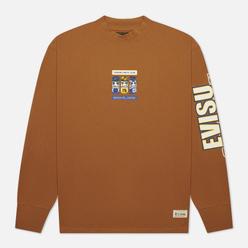Мужской лонгслив Evisu Heritage Multi Logo Printed Loose Fit Khaki