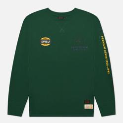 Мужской лонгслив Evisu Heritage Godhead Printed Loose Fit Dark Green