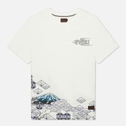 Мужская футболка Evisu Heritage Dragon & Mountain Fuji Printed Off White
