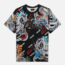 Мужская футболка Evisu Heritage Ukiyo-e Dragon All Over Print All Over Print