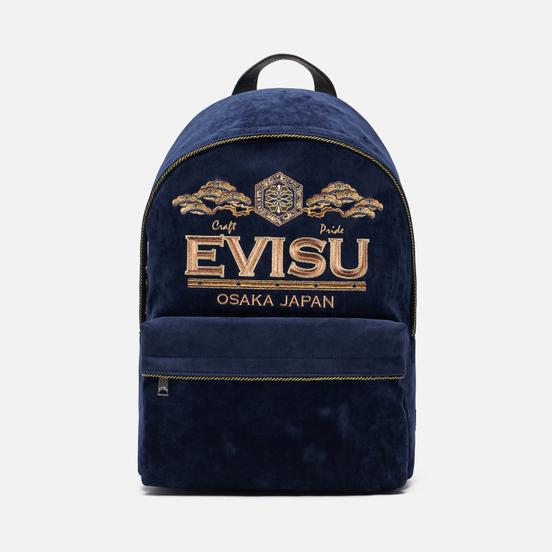Рюкзак Evisu Evisu Logo Embroidery Indigo Raw