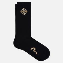 Носки Evisu Kamon Embroidery Long Black