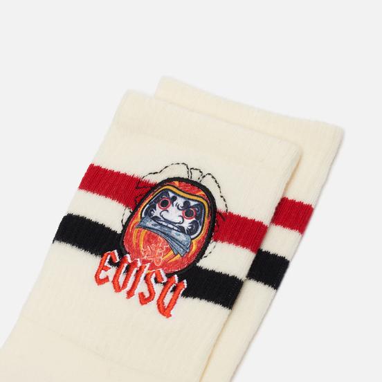 Носки Evisu Daruma Embroidery Short Ecru