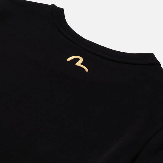 Женская футболка Evisu Brocade Printed Black