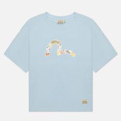 Женская футболка Evisu Daruma All Over Printed Seagull Light Blue