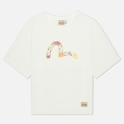 Женская футболка Evisu Daruma All Over Printed Seagull Off White