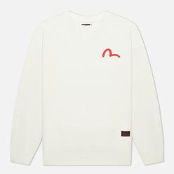 Мужская толстовка Evisu Basic Crew Neck Seagull Print Off White