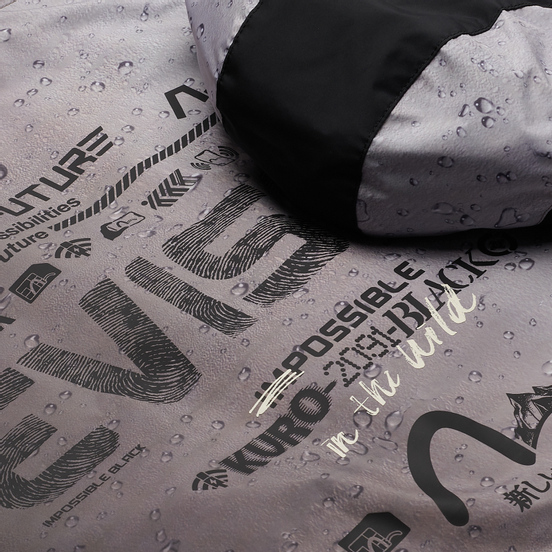 Мужская куртка ветровка Evisu Raindrop All Over Print Trail Windbreaker All Over Print/Black
