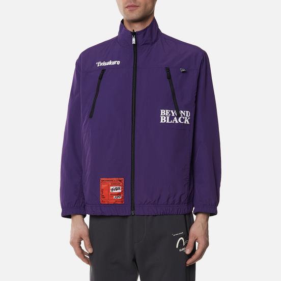 Мужская куртка Evisu Reversible Worker Kuro Workware Label Black/Royal Purple