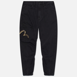 Мужские брюки Evisu Duo Seagull Embroidered Side Pockets Black