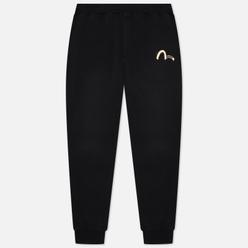 Мужские брюки Evisu Garment Pigement Dye Hannya & Skull Pigment Black