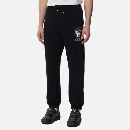 Мужские брюки Evisu Multi Hannya & Seagull Foil Printed Black