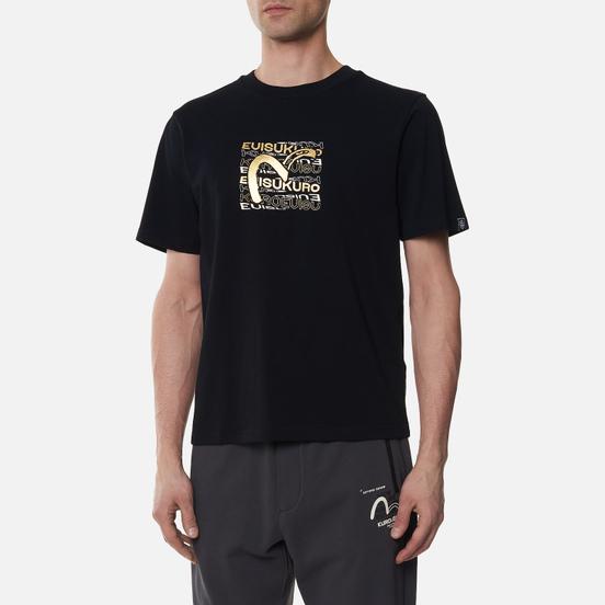 Мужская футболка Evisu Brushed Seagull & Hannya Skull Black