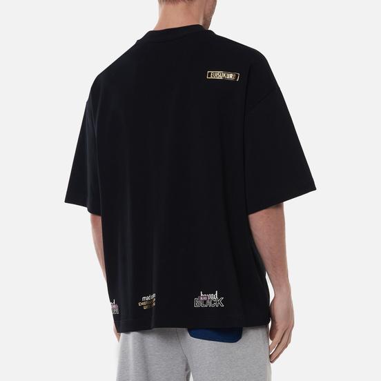 Мужская футболка Evisu 3D Seagull W.Shadow The Great Wave Black