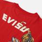 Мужская футболка Evisu Heritage Tigers & Logo Printed Chinese Red фото - 2