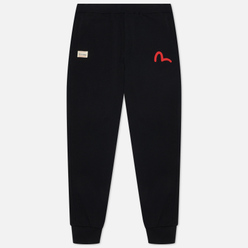 Мужские брюки Evisu Godhead & Evisu All Over Printed Daicock Black