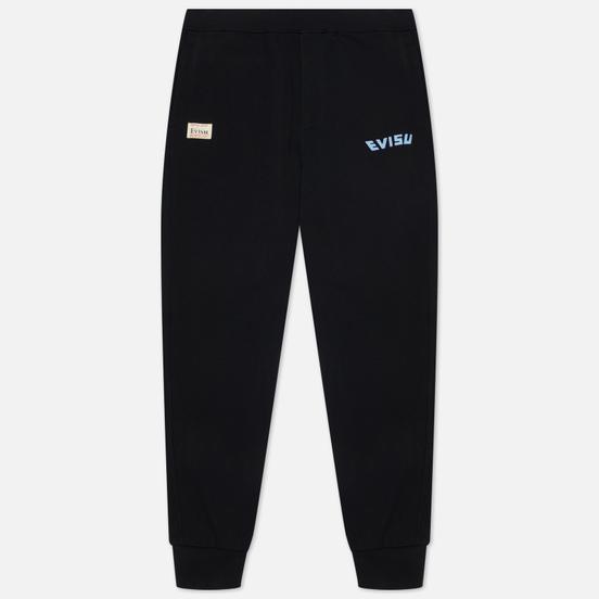 Мужские брюки Evisu Godhead All Over Printed Double Daicock Black