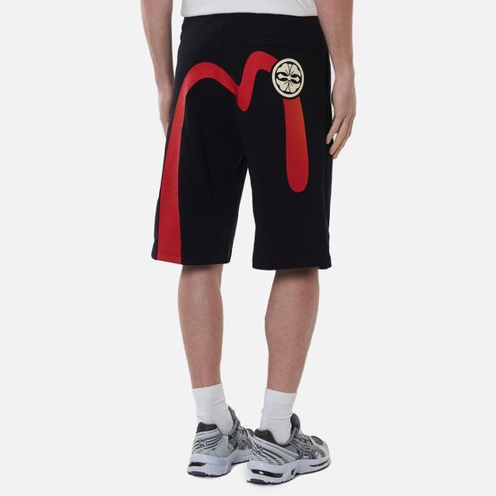 Мужские шорты Evisu Free Hand Printed Daicock & Kamon Black