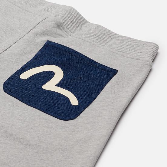 Мужские шорты Evisu Seagull Printed Pocket Heather Grey
