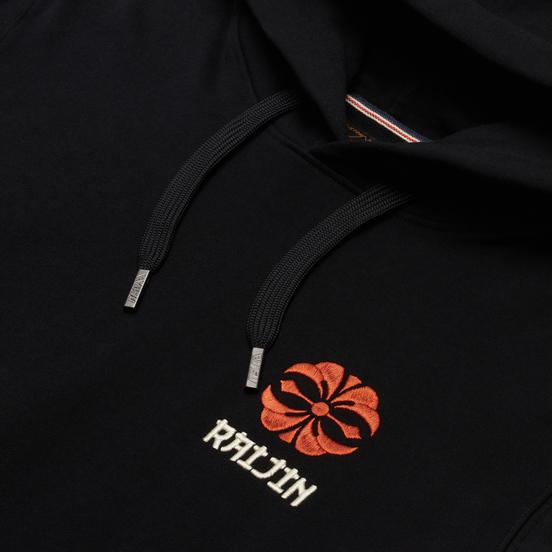 Мужская толстовка Evisu Kimono-Style Zip-Hoodie Brocade Applique Black