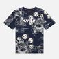 Мужская футболка Evisu Fujin-Raijin Greyscale All Over Printed Dark Navy фото - 0