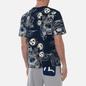 Мужская футболка Evisu Fujin-Raijin Greyscale All Over Printed Dark Navy фото - 3
