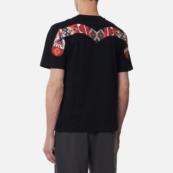Мужская футболка Evisu Folklore Art Pattern Printed Daicock Black