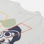Мужская футболка Evisu Godhead Daruma Printed Bias Cut Seam Light Grey фото - 2