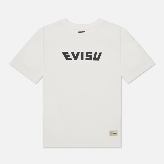Мужская футболка Evisu Daruma & Wave All Over Printed Daicock Off White
