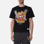 Мужская футболка Evisu Godhead x Bonsai Printed Crew Neck Black фото - 3