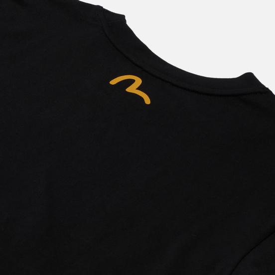 Мужская футболка Evisu Godhead x Bonsai Printed Crew Neck Black