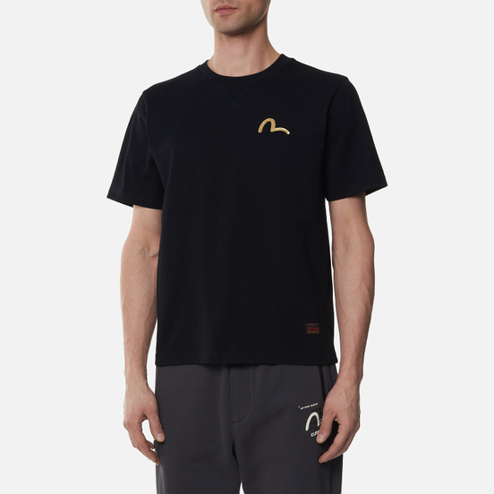 Мужская футболка Evisu Gradated Foil & Digital Printed Raijin Black