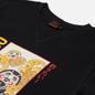 Мужская футболка Evisu Daruma & Wave Box Printed Black фото - 1