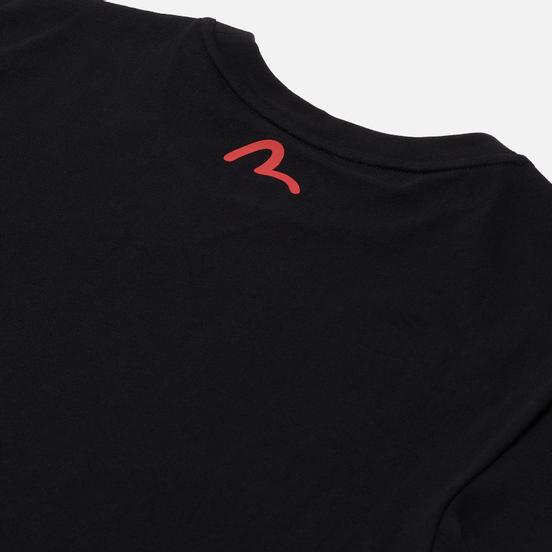 Мужская футболка Evisu Daruma & Wave Box Printed Black