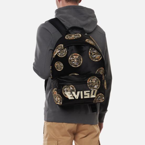 Рюкзак Evisu Brocade Applique Kamon & Evisu Logo Embroidered Black