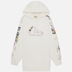 Женская толстовка Evisu Heritage Landscape All Over Printed Hoodie Off White