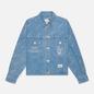 Женская джинсовая куртка Evisu Monogram Laser Print All Over & Evisu-Sake Embroidered Indigo Mid Tone фото - 0
