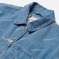 Женская джинсовая куртка Evisu Monogram Laser Print All Over & Evisu-Sake Embroidered Indigo Mid Tone фото - 1