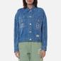 Женская джинсовая куртка Evisu Monogram Laser Print All Over & Evisu-Sake Embroidered Indigo Mid Tone фото - 2