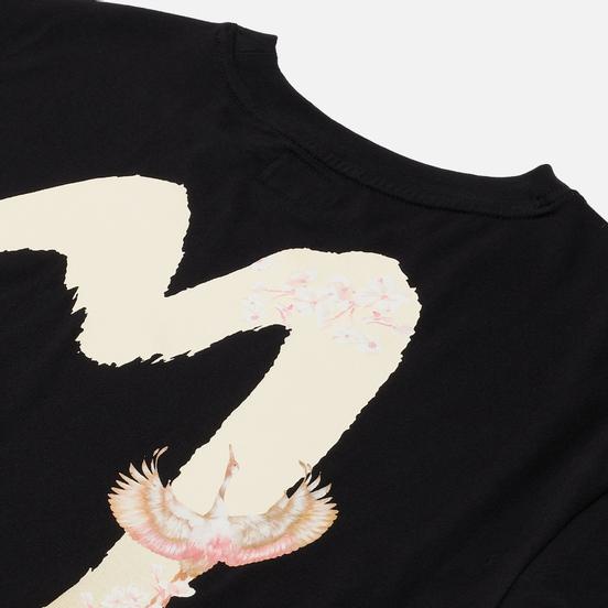 Женская футболка Evisu Gradated Daicock Crane & Brocade Black