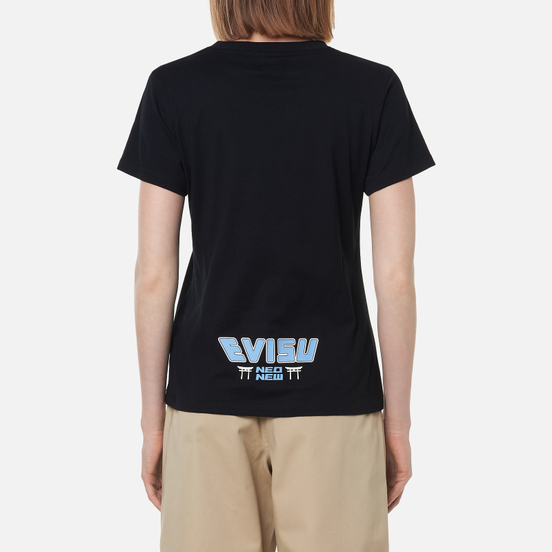 Женская футболка Evisu Pattern Seagull Print Black