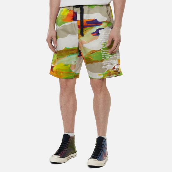 Мужские шорты MSGM Melting Colors Print Beige