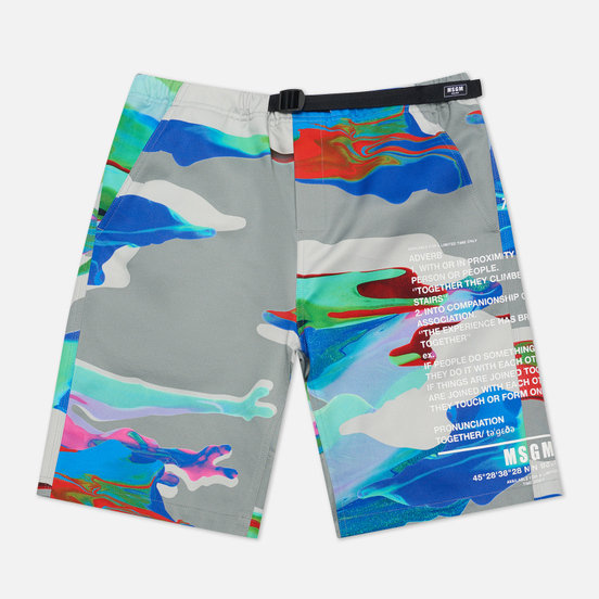 Мужские шорты MSGM Melting Colors Print Grey